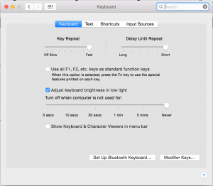System Preferences -> Keyboard